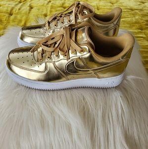Nike Air Force 1 Liquid Gold Sneakers